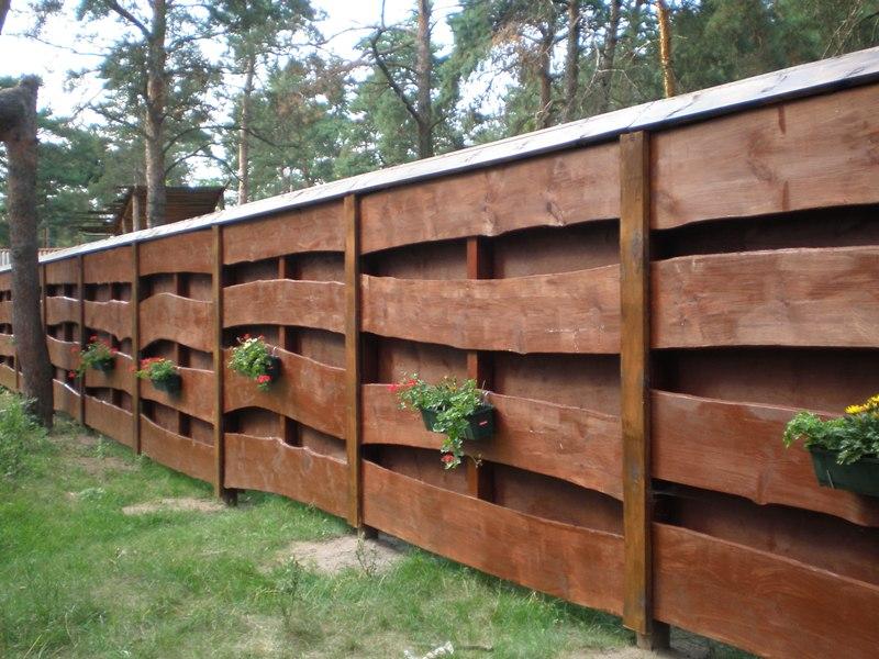 Заборы для из дерева